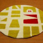 ツミキ マット円形 グリーン   90㎝×90㎝ 丸